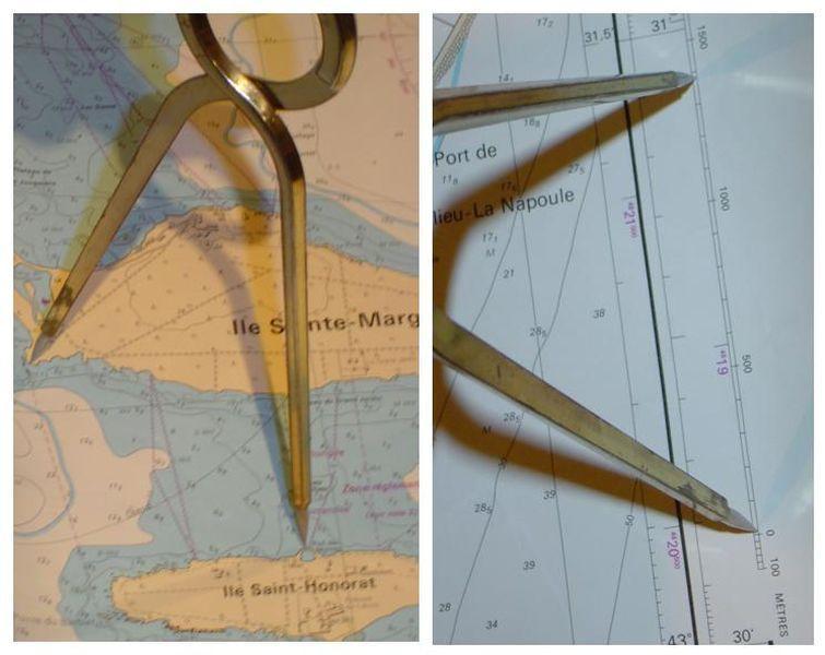 La carte marine la longitude et la latitude le compas - Distance en milles nautiques entre 2 ports ...