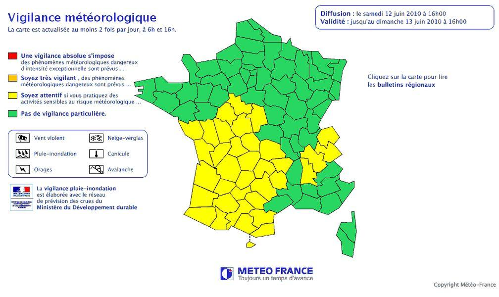 Le mistral - Les cartes météorologiques : vigilance ...