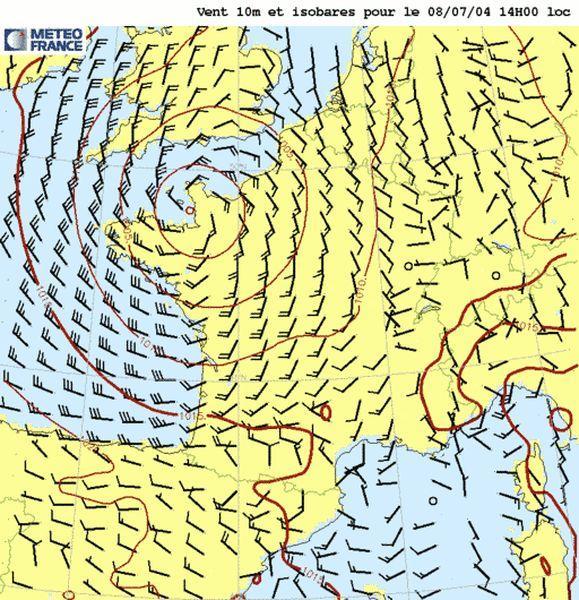 Le mistral   Les cartes météorologiques : vigilance, isobariques