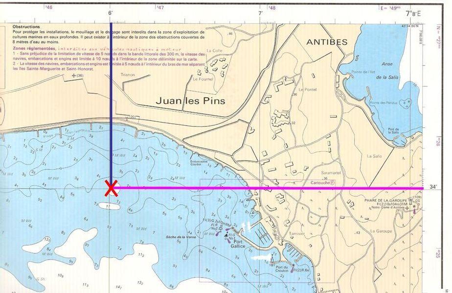 lire une carte marine La carte marine   La longitude et la latitude   Le compas de